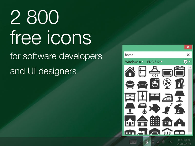 Icons8 App for Windows Screen shot